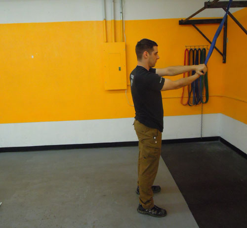 Mobility - Banded Overhead Distraction - Tactical Arts Academy